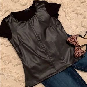 The Limited Faux Leather Tee - size M